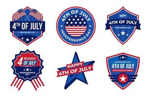 4th of July Badge Collection vector