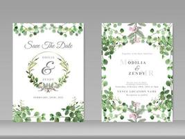wedding card template exotic floral vector