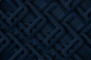 Abstract 3d background with geometric shapes dark blue papercut vector