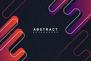 Abstract dark blue and gradient rounded shapes background vector