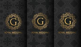 Set of luxury logo vector