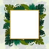 Tropical Leaves For Summer Background vector