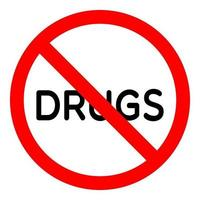 Say no drugs sign vector illustration