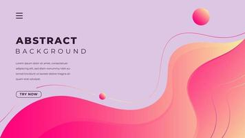 Colorful flow abstract background with fluid Minimalist landing page design vector