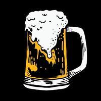Glass beer vector illustration