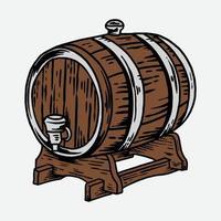 barrel vector illustration hand drawn