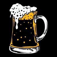 Glass beer illustration vector