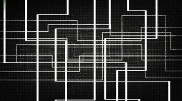 Black Line Technology Background vector