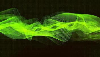 fondo de onda de sonido verde claro vector