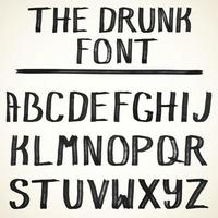Vector alphabet Uppercase Hand drawn grunge letters of the alphabet written with a black color brush