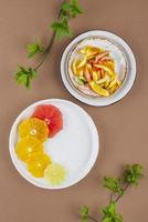Creative assortment of delicious food photo