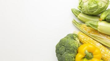 vista superior arreglo de verduras deliciosas foto