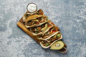 Creative assortment of tasty food photo