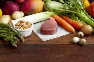 Arreglo de comida fácil de dieta flexitariana foto