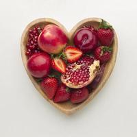 vista superior del arreglo de frutas frescas foto