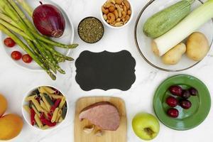 Surtido de alimentos de dieta flexitariana fácil foto