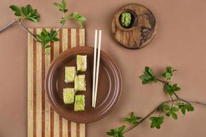 surtido creativo de comida deliciosa. foto