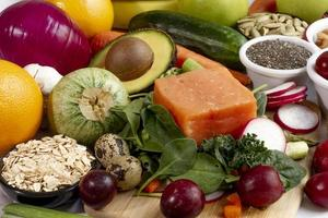 la composición alimentaria de la dieta flexitariana fácil foto