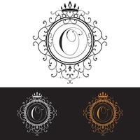 Letter O Luxury Logo template flourishes calligraphic elegant ornament lines Business sign identity for Restaurant Royalty Boutique Hotel Heraldic Jewelry Fashion vector illustration