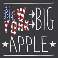 New York Big apple typography poster tshirt Printing design vector Badge Applique Label