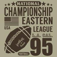 Football sport typography tshirt Printing design graphics vector poster Badge Applique Label