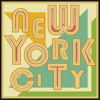 New York City retro vintage typography poster tshirt Printing design vector Badge Applique Label