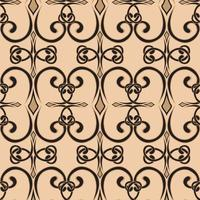 patrón de remolino sin fisuras en un estilo simple vector adorno de rizo sin fin