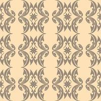 Patrón transparente marrón de elementos abstractos sobre un fondo crema vector