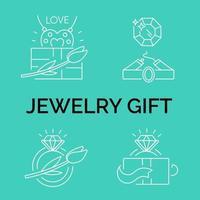Jewelry icons jewelry theme jewelry store infographics vector