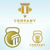 A set of law education vector business logo