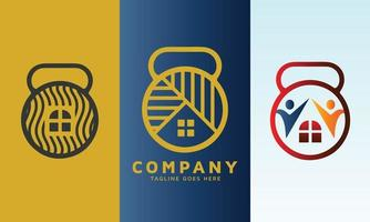 Set of real estate logo design vector