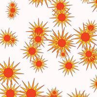 diseño plano de patrones sin fisuras sol abstracto vector