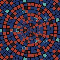 patrón de diseño geométrico de forma colorida vector