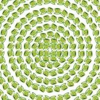 tazas de colores verdes círculo de patrones sin fisuras vector