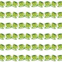 green cups seamless pattern beautiful vector