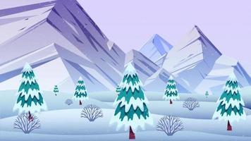 montañas nevadas y clima frío en invierno video