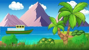 el barco viaja en temporada de verano video
