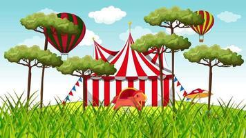parque de atracciones y circo fuera de la ciudad. video