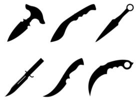 Arma de cuchillo de combate para matar ilustración vectorial aislado sobre fondo vector
