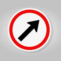 Go To The Right By The Arrow Traffic Road Sign vector