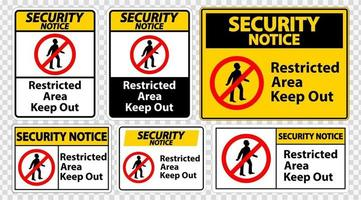 Security Notice Restricted Area Keep Out Symbol vector