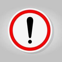 Symbol Warning sign vector