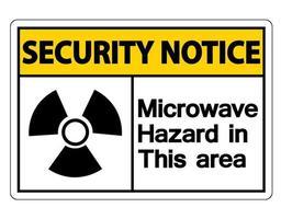 aviso de seguridad señal de peligro de microondas vector