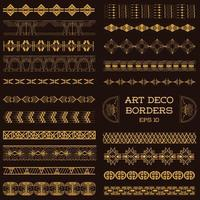 Art Deco Vintage Borders and Design Elements hand drawn in vector
