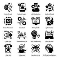 Artificial Intelligence and Robotics vector