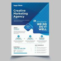 flyer template with minimalist layout vector