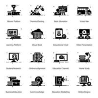 Online Education and School vector