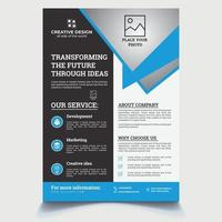 Flyer Template Geometric shape used for business poster layout vector