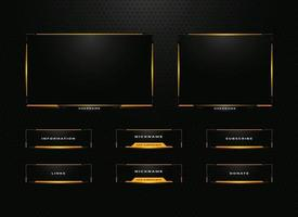 twitch streamer panel overlay design set vector