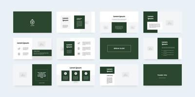 minimal style powerpoint slides template vector